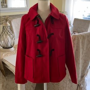Old Navy red toggle closure jacket with hood